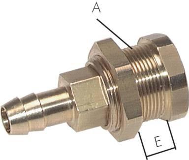 Abreiß-Kupplungsdosen mit Schlauchtülle und Schottgewinde - NW 5