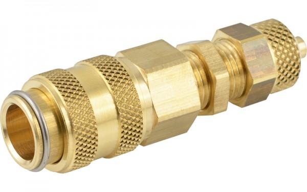 Druckluftkupplung mit Überwurfmutter und Schottgewinde - NW 5