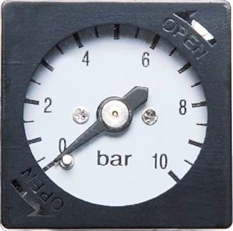 EMC Ersatzmanometer 0 - 10 bar für Baureihe 2 - 5