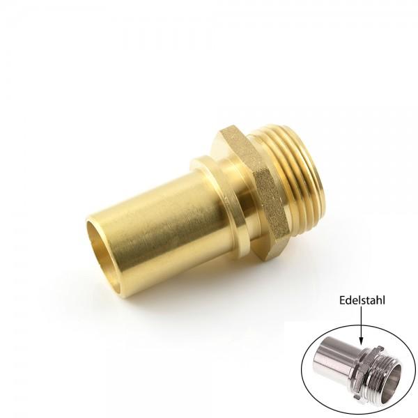 Schlauchtüllen mit Außengewinde und Sicherungsbund - Abmessungen nach EN 14420-5 (DIN 2817)