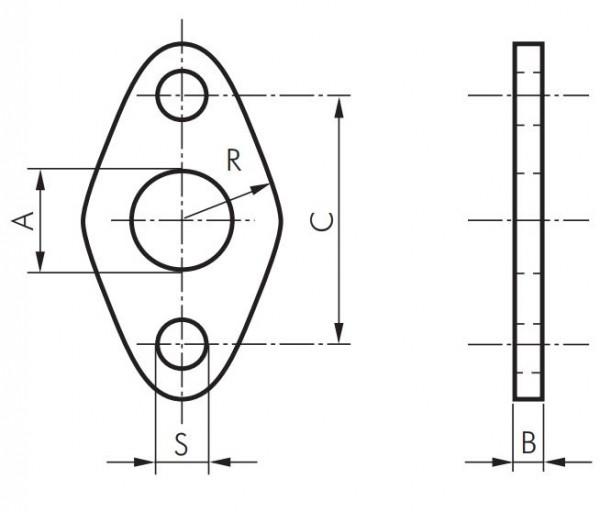 Flanschbefestigungen - für Rundzylinder ISO 6432