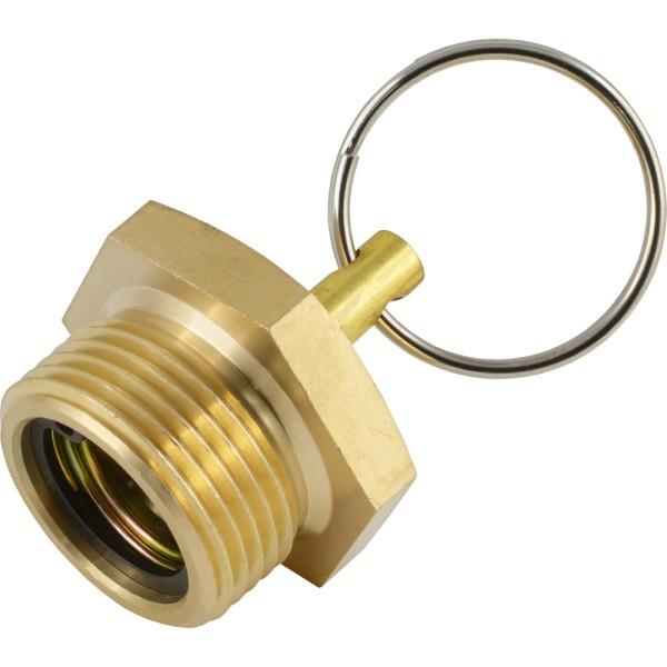 Entwässerungsventile mit Ring für Druckluftbehälter an Fahrzeugen