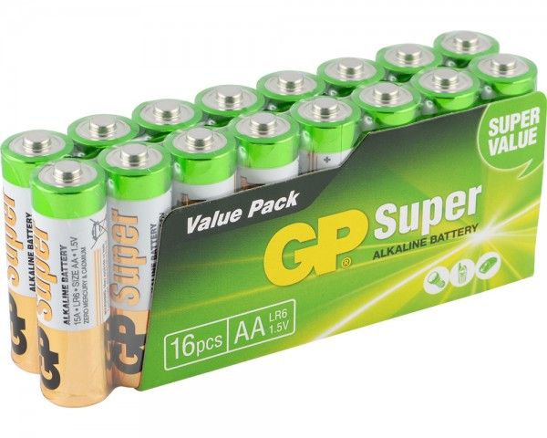 16 Stk. GP-AA-Batterie (LR6)
