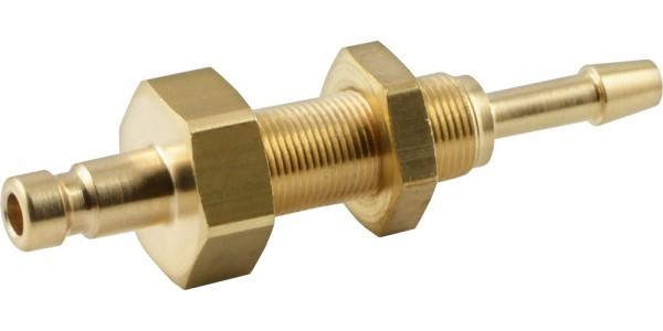 Kupplungsstecker mit Schlauchtülle & Schottgewinde - NW 2,7