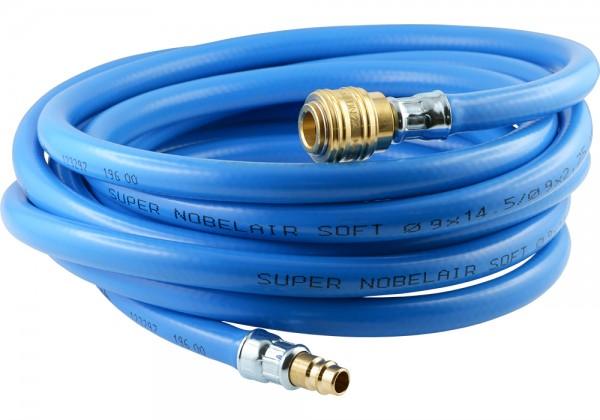 PVC-Schläuche mit Gewebeeinlage - komplett mit Kupplungsdose und Stecker NW 7,2