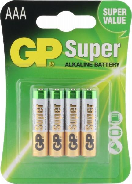 4 Stk. GP-AAA-Batterie (LR03)