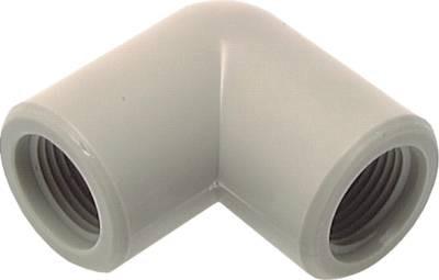 90° Winkel mit Innengewinde aus Kunststoff