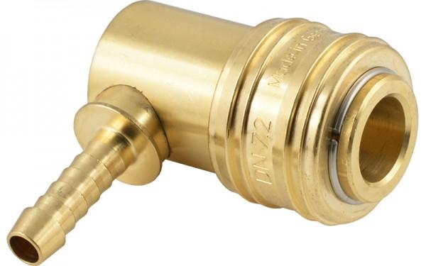 Druckluftkupplung mit Winkel-Schlauchtülle - NW 7,2