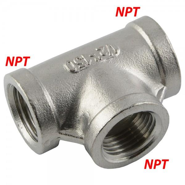 T-Stück mit NPT-Innengewinde (gegossen)