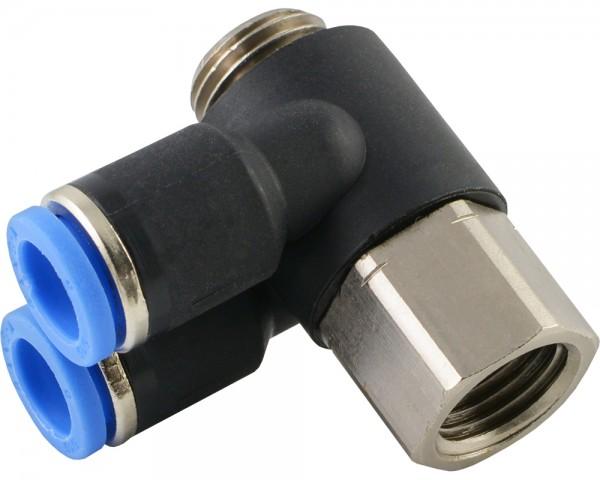L-Steckverschraubungen mit zylindrischem Innen- und Außengewinde (2-fach)