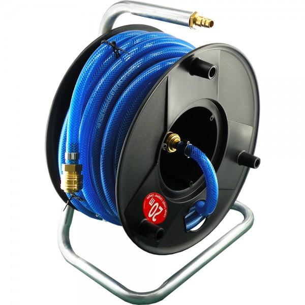 Schlauchaufroller für Druckluft - Komplett mit Schnellkupplungen NW 7,2