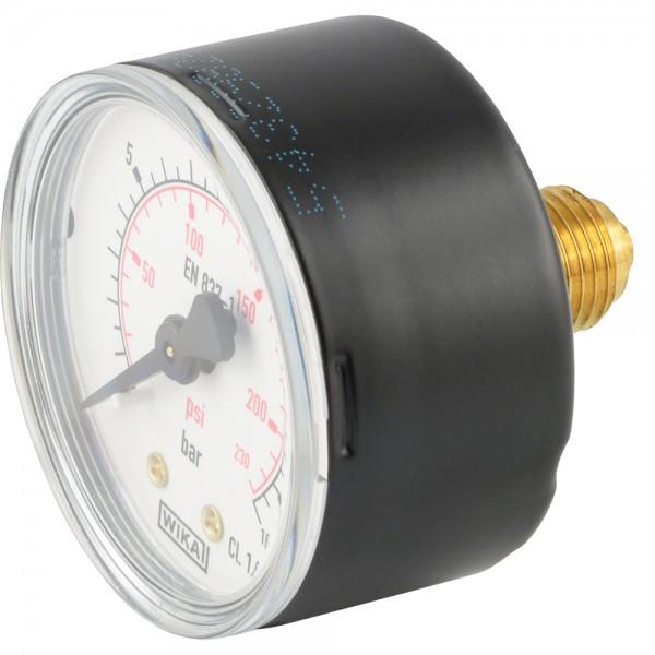 Manometer waagerecht Ø 40, 50, 63 mm - Klasse 2.5