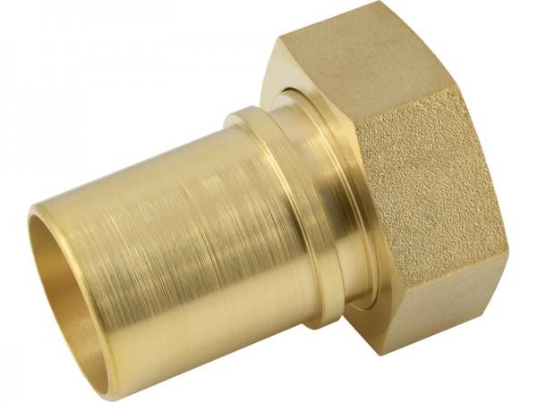 Schlauchtülle mit Überwurfmutter und Sicherungsbund - Abmessungen nach EN 14420-5 (DIN 2817)
