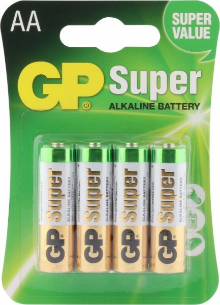 4 Stk. GP-AA-Batterie (LR6)