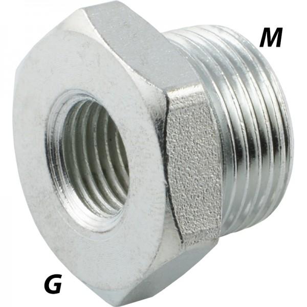 Reduziernippel mit metrischem Gewinde / G-Gewinde