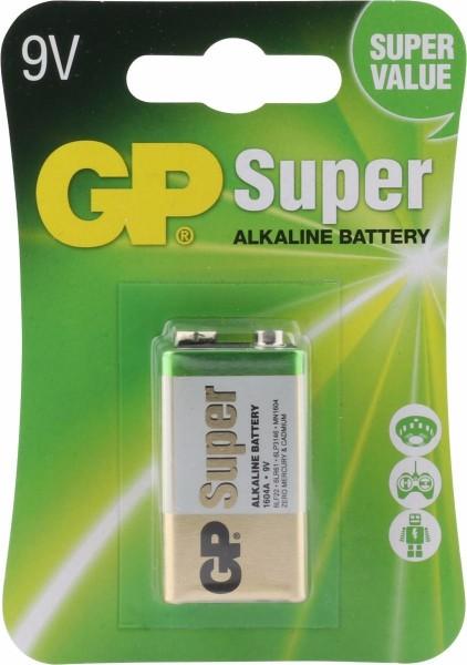 GP Alkaline Batterie Super 9V