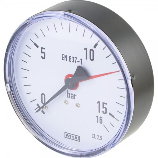 Manometer waagerecht Ø 80 - 100 mm - Klasse 2.5