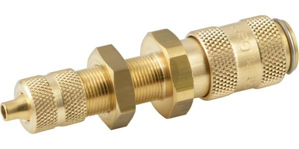 Druckluftkupplung mit Überwurfmutter & Schottgewinde - NW 2,7