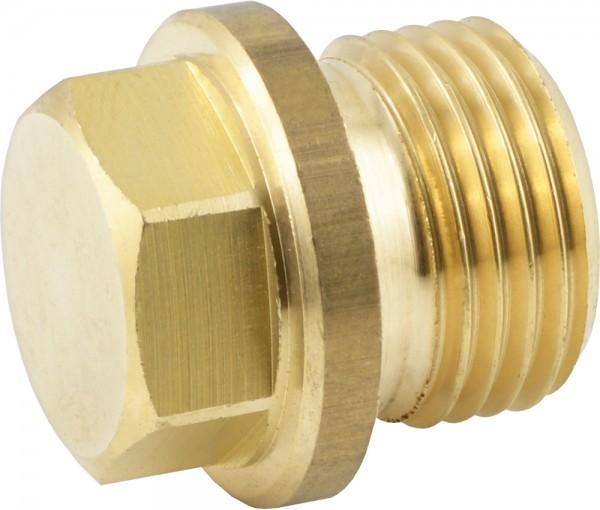 Verschlussstopfen mit Außensechskant und Bund - mit zylindrischem Gewinde