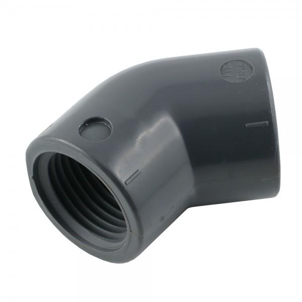 Gewindewinkel 45° PVC-U (nur für Kunststoffgewinde)