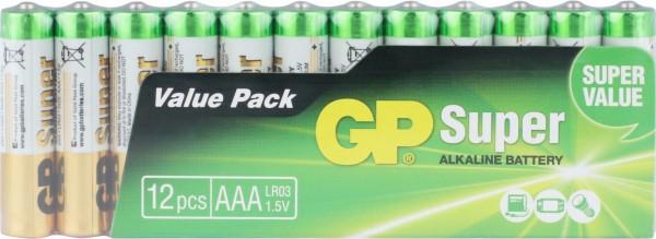 12 Stk. GP-AAA-Batterie (LR03)