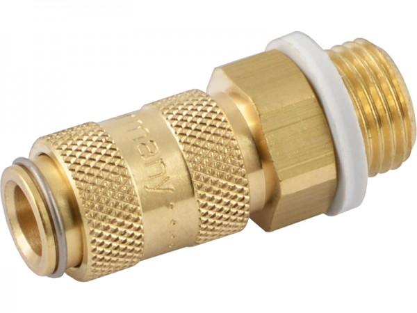Druckluftkupplung mit Außengewinde - NW 2,7