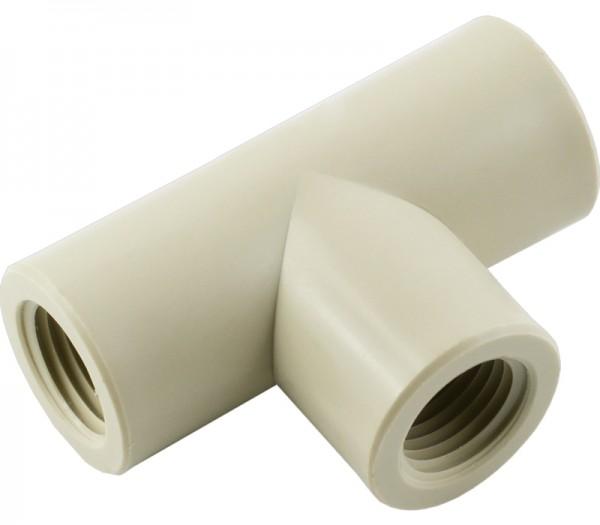T-Stück mit Innengewinde aus Kunststoff