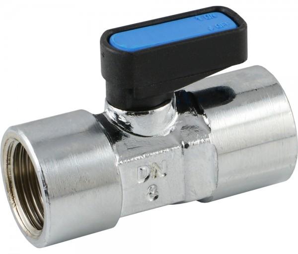 Mini-Kugelhähne mit Knebelgriff einseitig - kompakt - EN 331