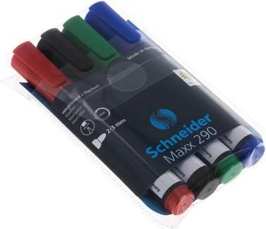 Schneider Flipchart und Whiteboardmarker - 4er Set