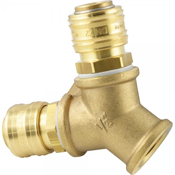 Luftweiche mit Druckluftkupplung und Innengewinde - NW 7,2