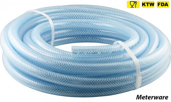 PVC-Schläuche mit Gewebeeinlage - Lebensmittelqualität (Meterware)