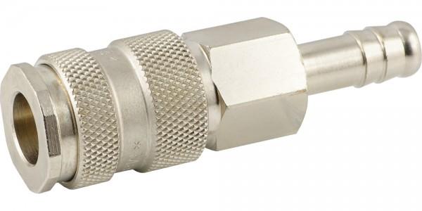 Druckluftkupplung mit Schlauchanschluss- Kugelverriegelung - NW 7,2