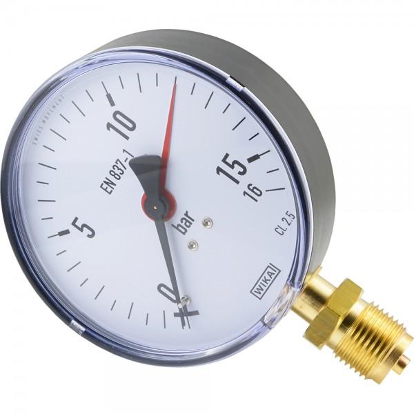 Manometer senkrecht Ø 80, 100, 160 mm - Klasse 2.5 / 1.6