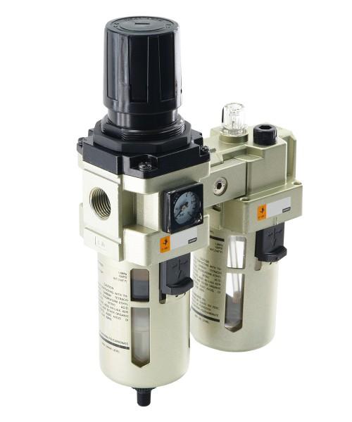 Wartungseinheiten - 2-teilig - Filterregler - Nebelöler