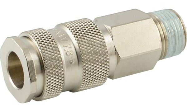 Druckluftkupplung mit Außengewinde - Kugelverriegelung - NW 7,2