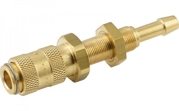 Druckluftkupplung mit Schlauchtülle & Schottgewinde - NW 2,7