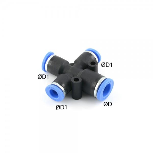 X-Steckverbindung mit 3 reduzierten Abgängen