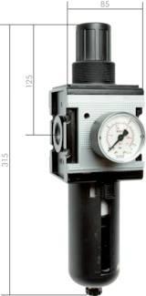 Filterregler Druckminderer Baureihe 4, 12000 l/min