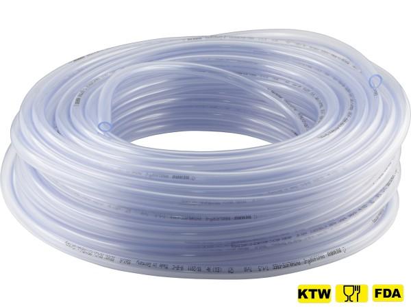 (Meterware) PVC-Schläuche ohne Gewebeeinlage - Lebensmittelqualität