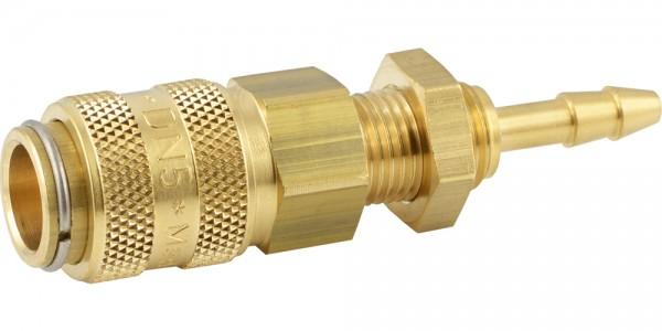 Druckluftkupplung mit Schlauchtülle und Schottgewinde - NW 5