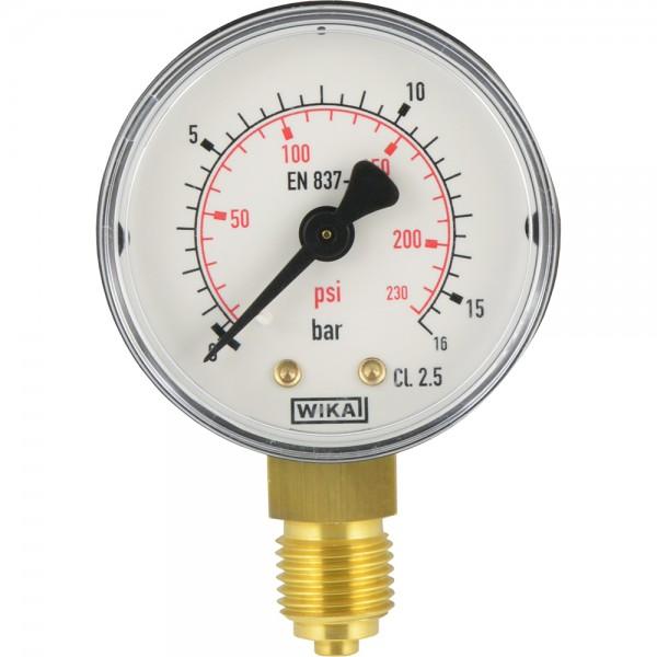 Manometer senkrecht Ø 40, 50, 63 mm - Klasse 2.5